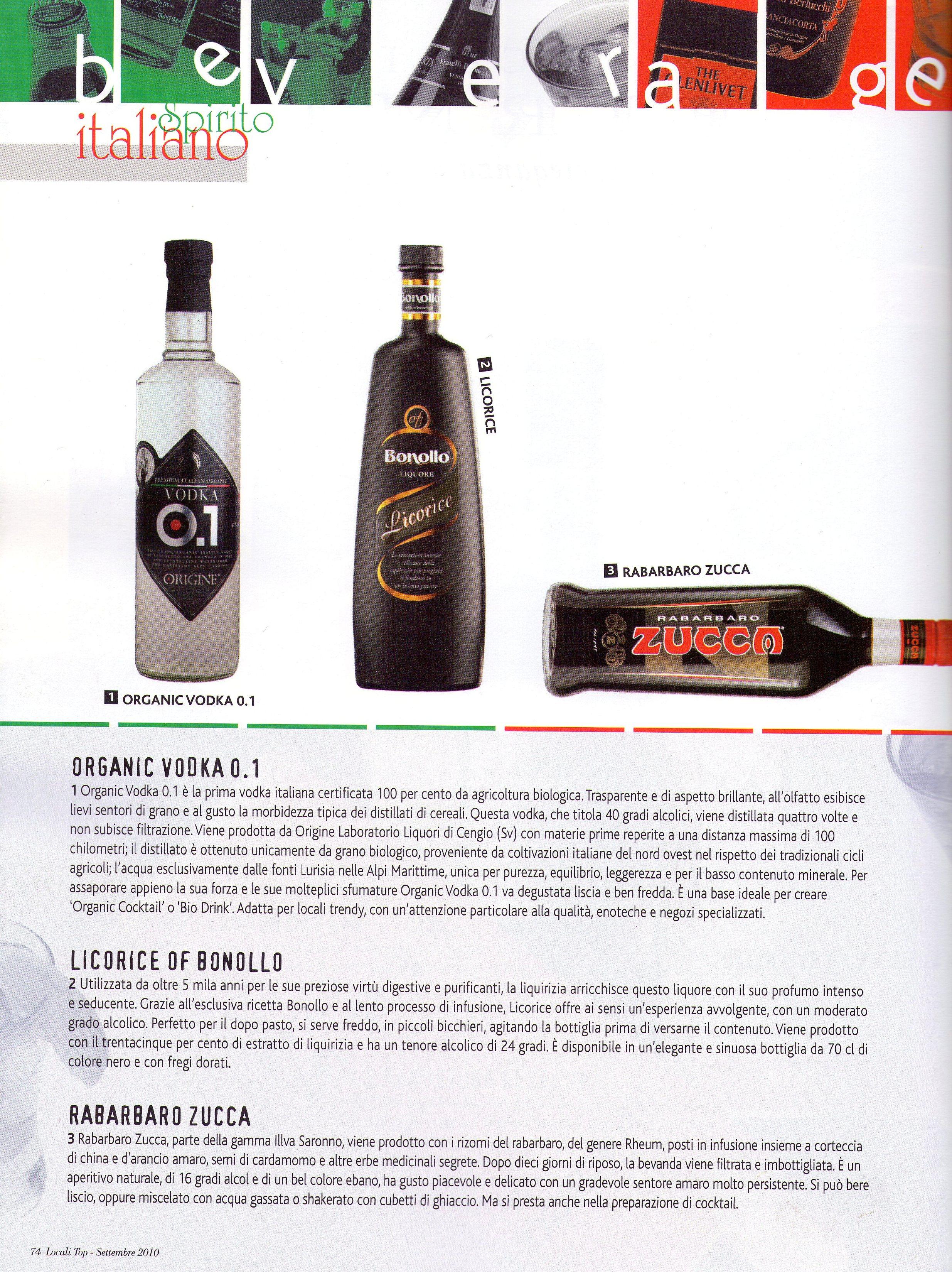organic vodka 0.1